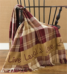 #LLLCS112016 Live Laugh Love Woven Throw