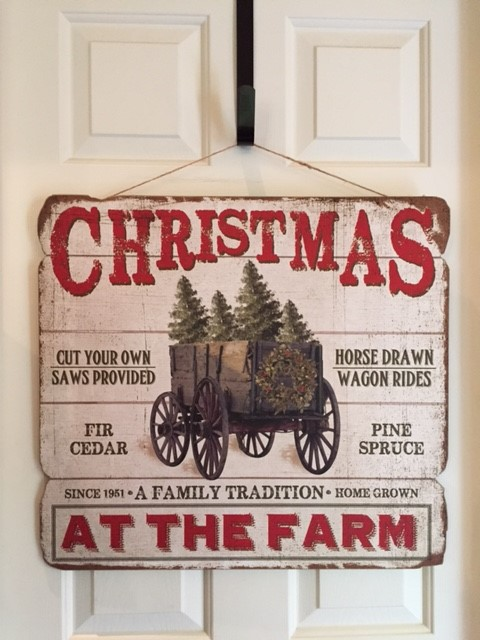 #1117CF Christmas at the Farm Sign