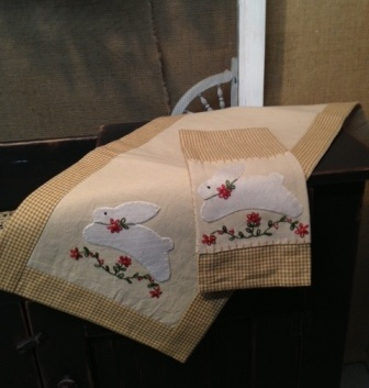 Bunny Runner and Towel Set