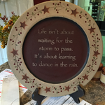 """Dance in the Rain"" Plate"