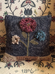 #CS0118 Three-flower Hooked Wool Pillow
