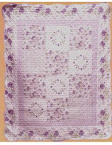 Lilac Mist Quilted Throw