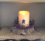Luminara Candle with scented textured wax