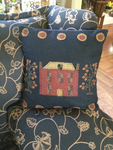 Wool Saltbox House Appliqued Pillow