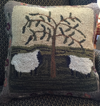 Sheep Hooked Pillow