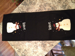 Believe Snowman Table Runner