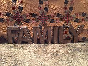 Wooden FAMILY Letters